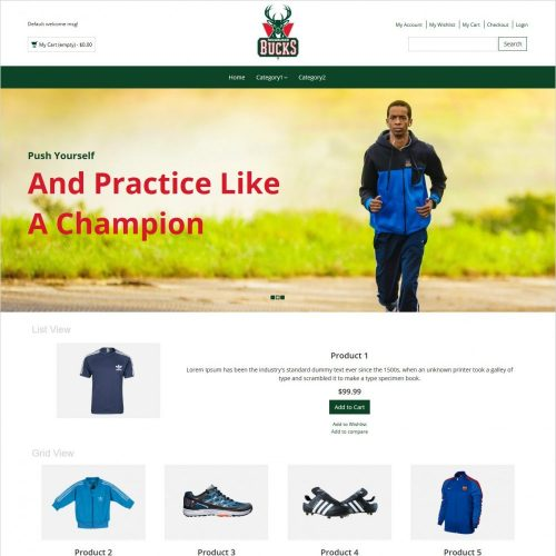 bucks sports items magento theme