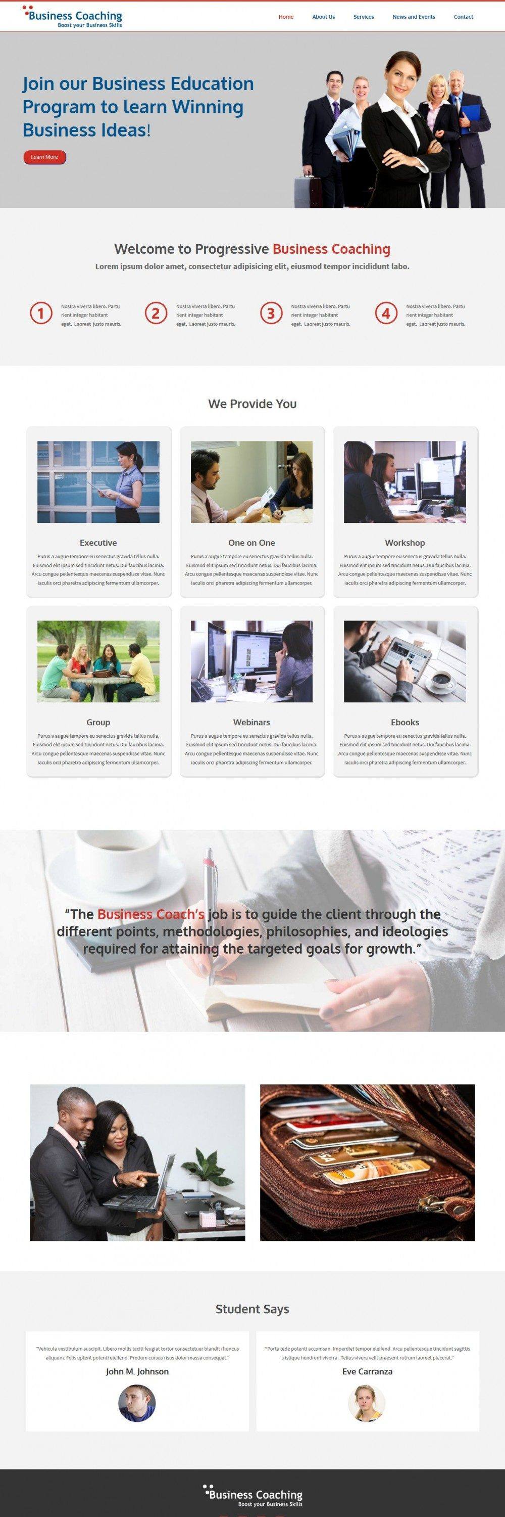 Business Coaching Responsive WordPress Theme for Business Coaching