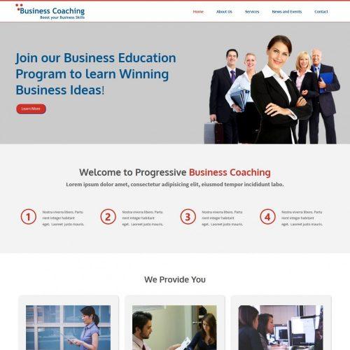 Business Coaching Responsive WordPress Theme for Business Coaching