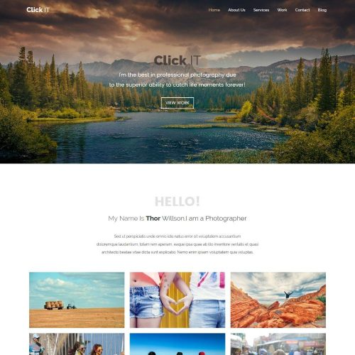 click it photography portfolio wordpress theme