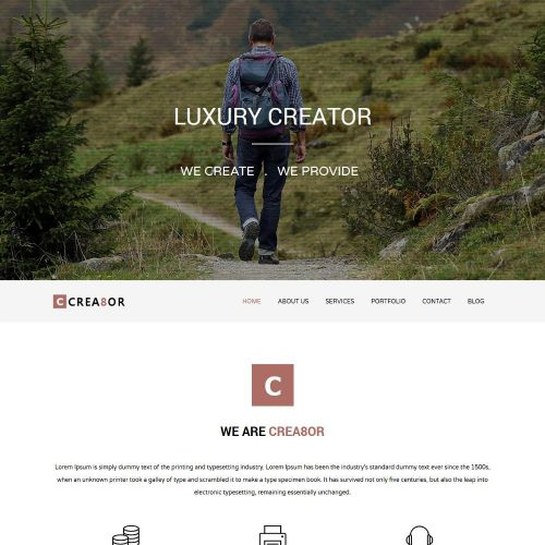 creator web Agency wordpress theme