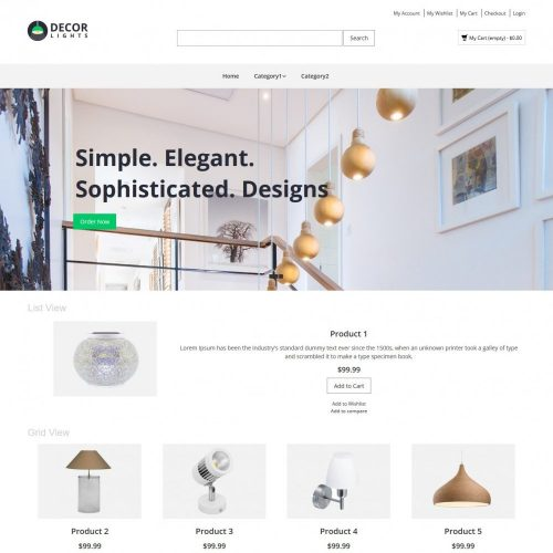 decor lights magento theme