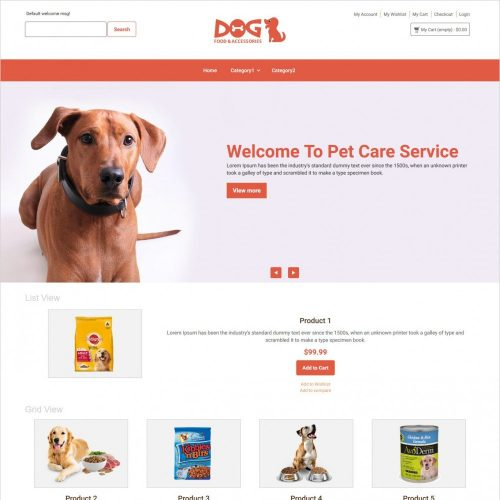 dog food magento theme