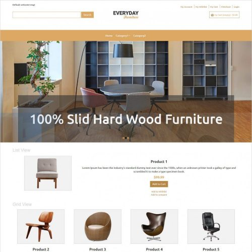 everyday furniture magento theme