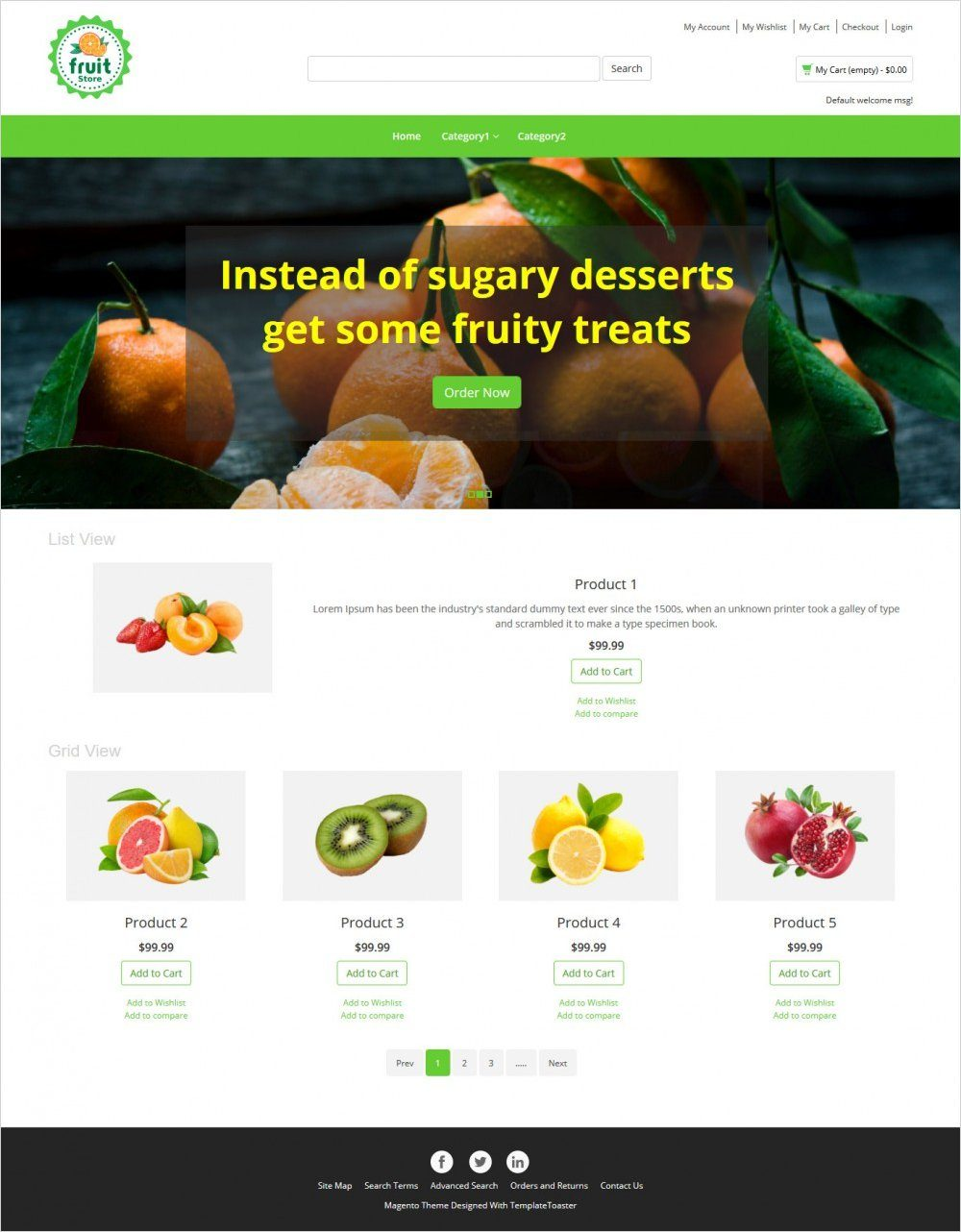fruit store magento theme