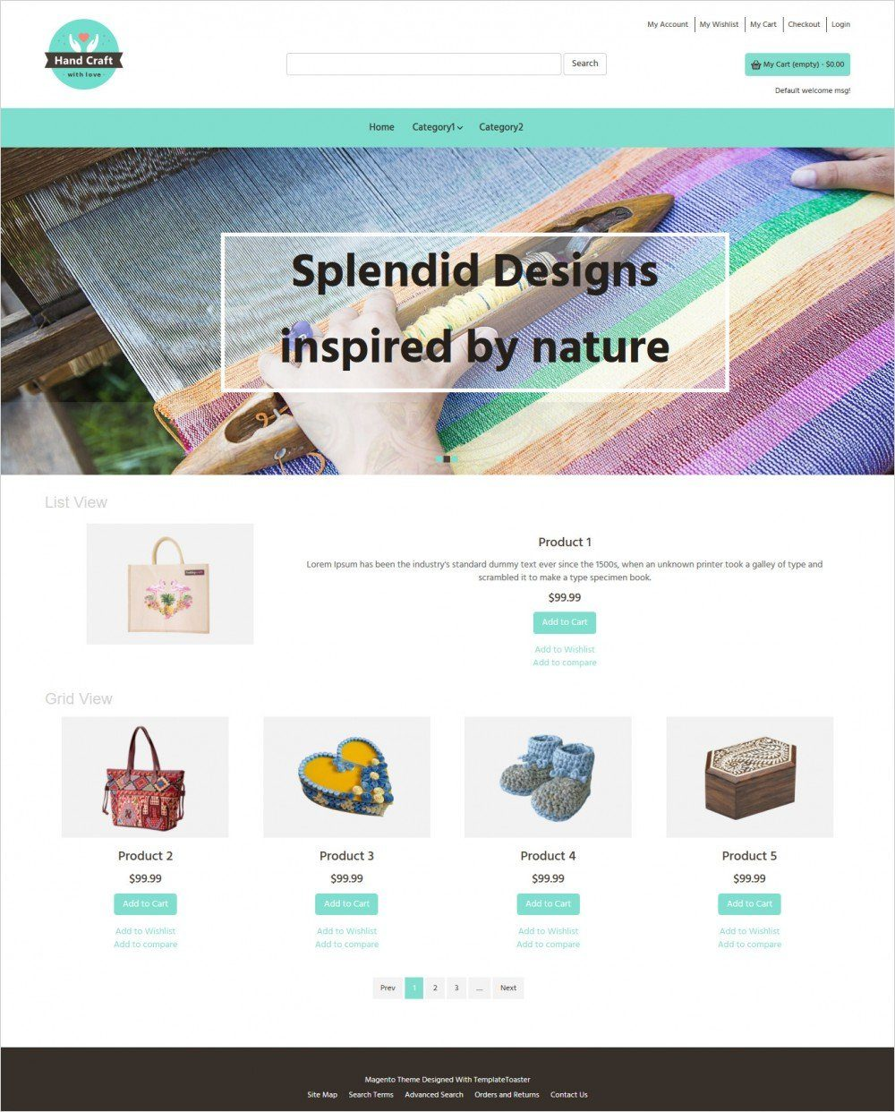 hand craft items magento theme
