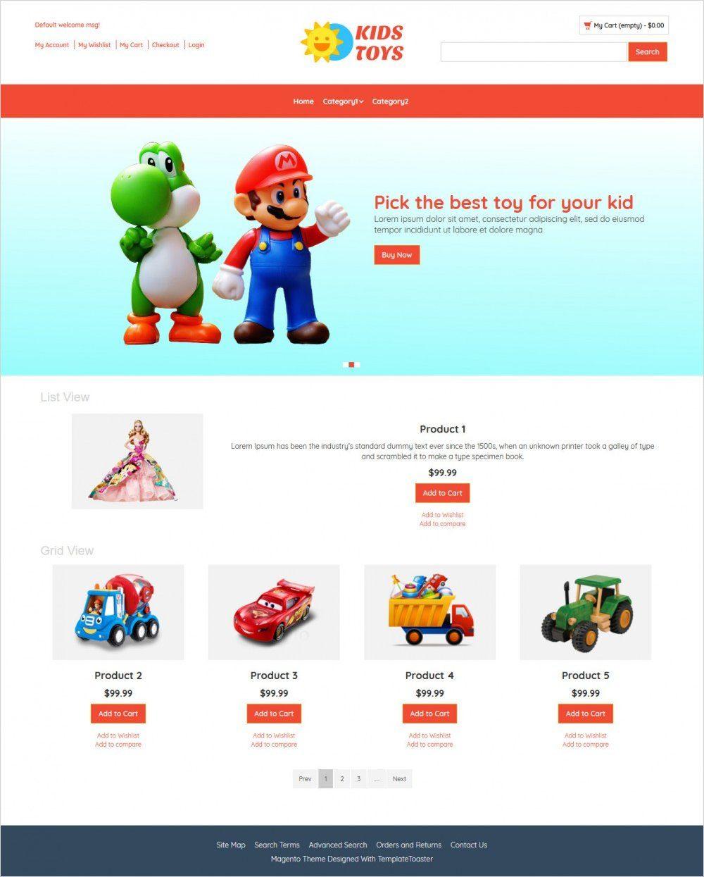 kids toys store magento theme