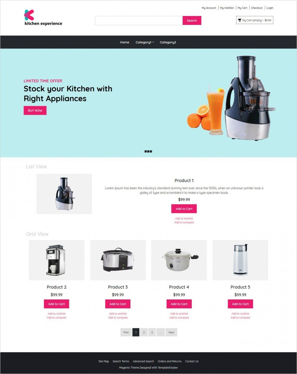kitchen experience kitchen appliances magento theme