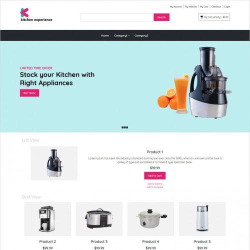 kitchen experience kitchen appliances magento theme