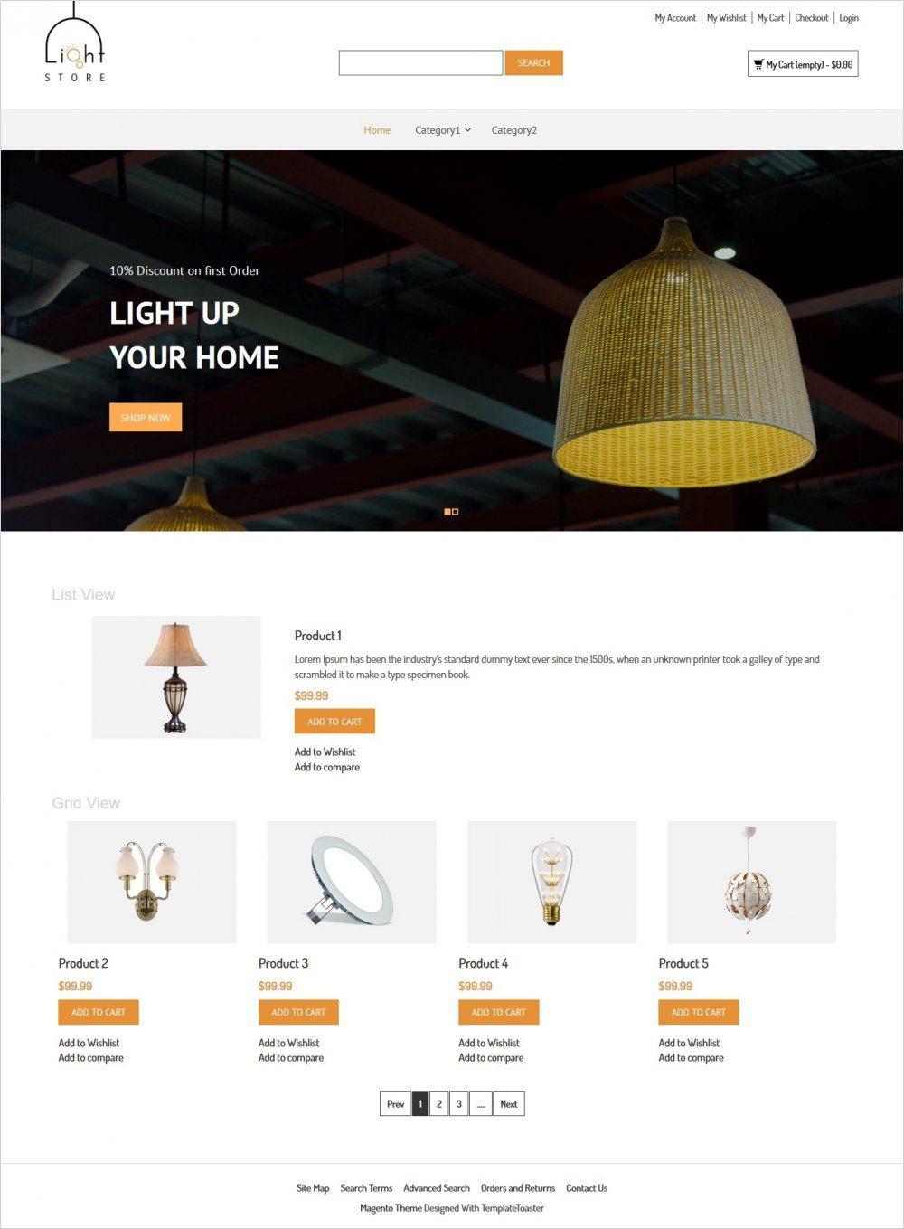 light store responsive magento theme
