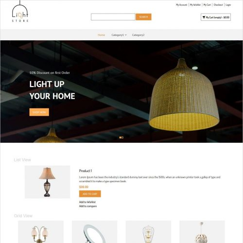 light store responsive magento theme