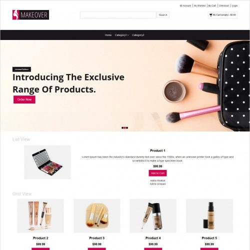 makeup accessories magento responsive theme