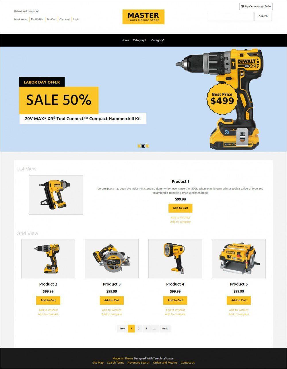 master tool store magento theme