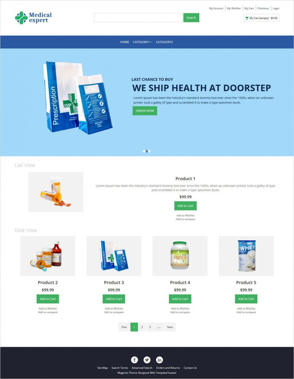 medical-expert-online medical store magento responsive theme
