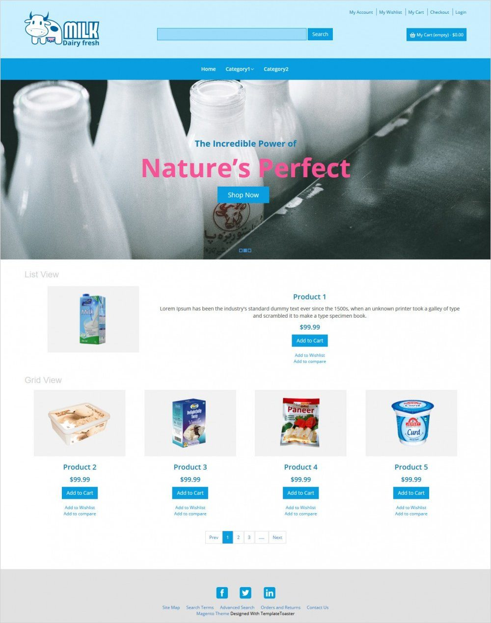 milk dairy fresh dairy products magento theme