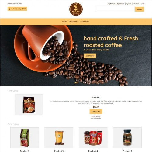 mocha coffee shop magento theme