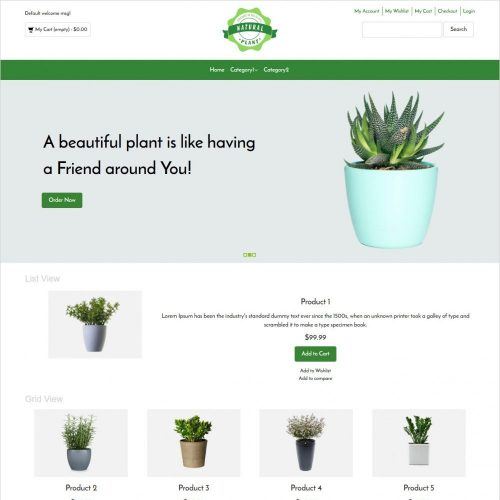 natural plant online plants selling magento theme