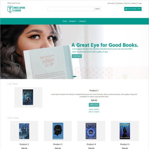 once upon a book online book store magento theme