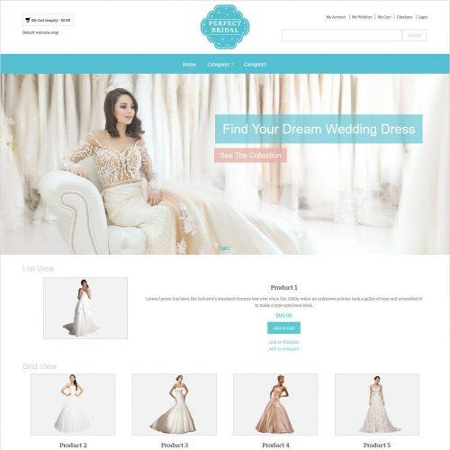 perfect bridal wedding dresses magento theme