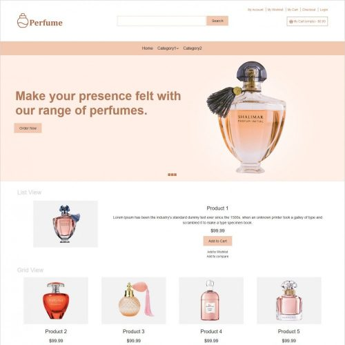 perfume online store Magento theme
