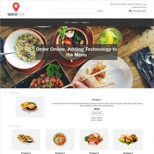 quick stop online restaurant magento theme