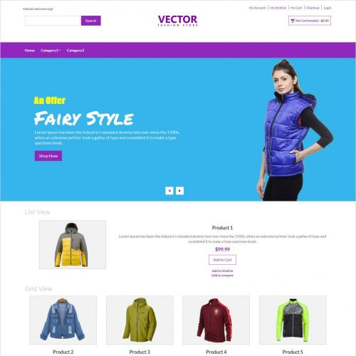vector fashion accesories responsive magento theme