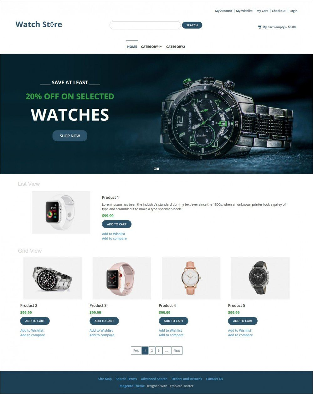 Watch Store Watch Shop Responsive Magento Theme