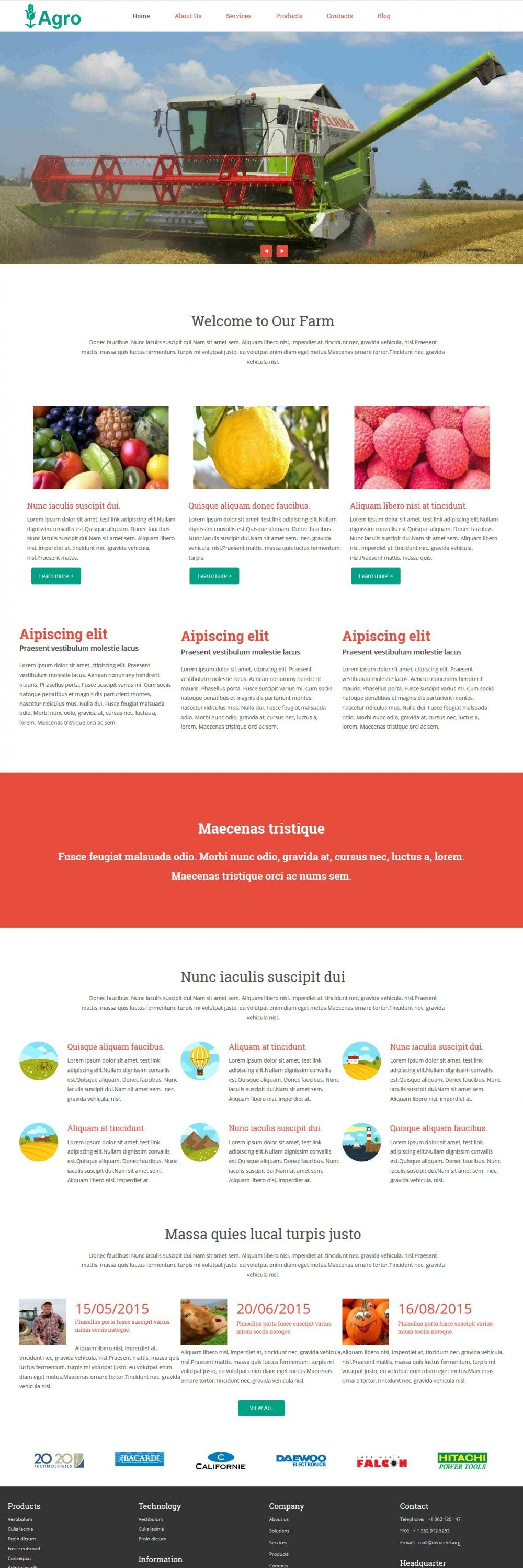 Agro - Agricultural Drupal Theme for Farms