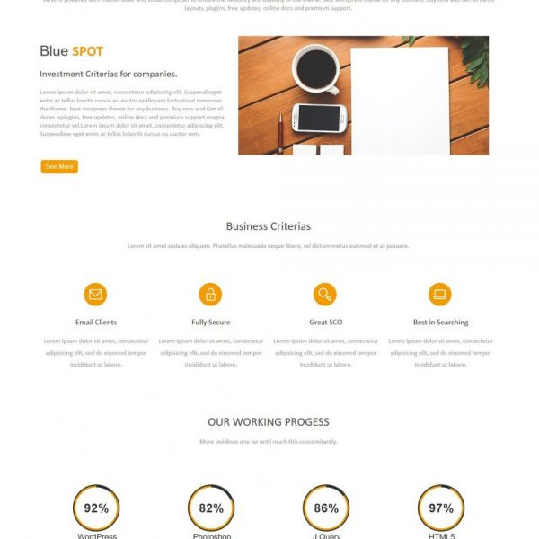 Blue Spot - Web Design Studio Joomla Template