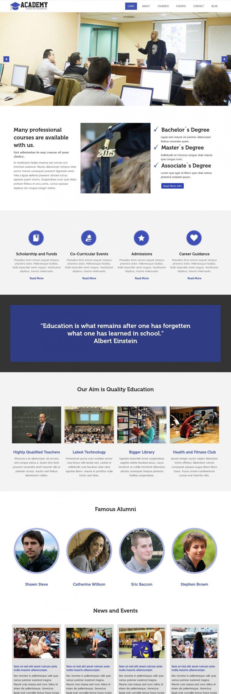 academy education university drupal theme