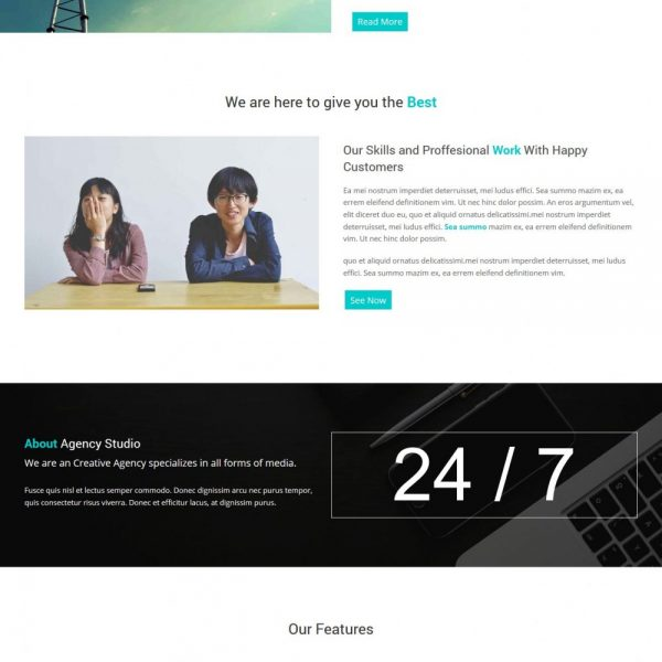 agency creative and simple joomla template