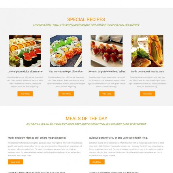 bianca restaurant free joomla template