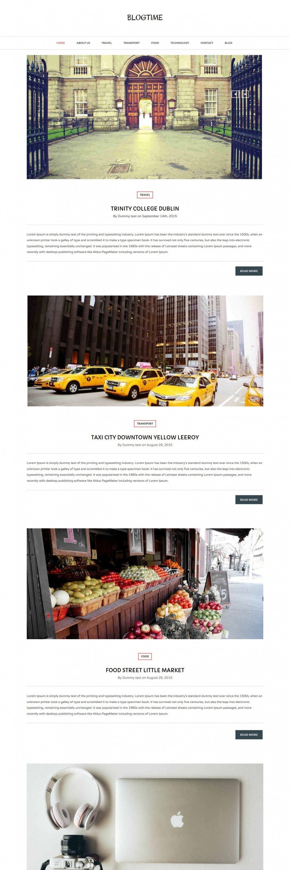 Blog Time - Unique Creative Joomla Template for Blog