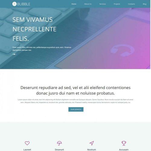Bubble - Premium Joomla Template for Web Design