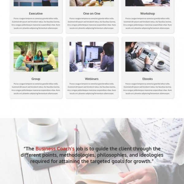 Business Coaching - The Professional Business Coaching Joomla Template