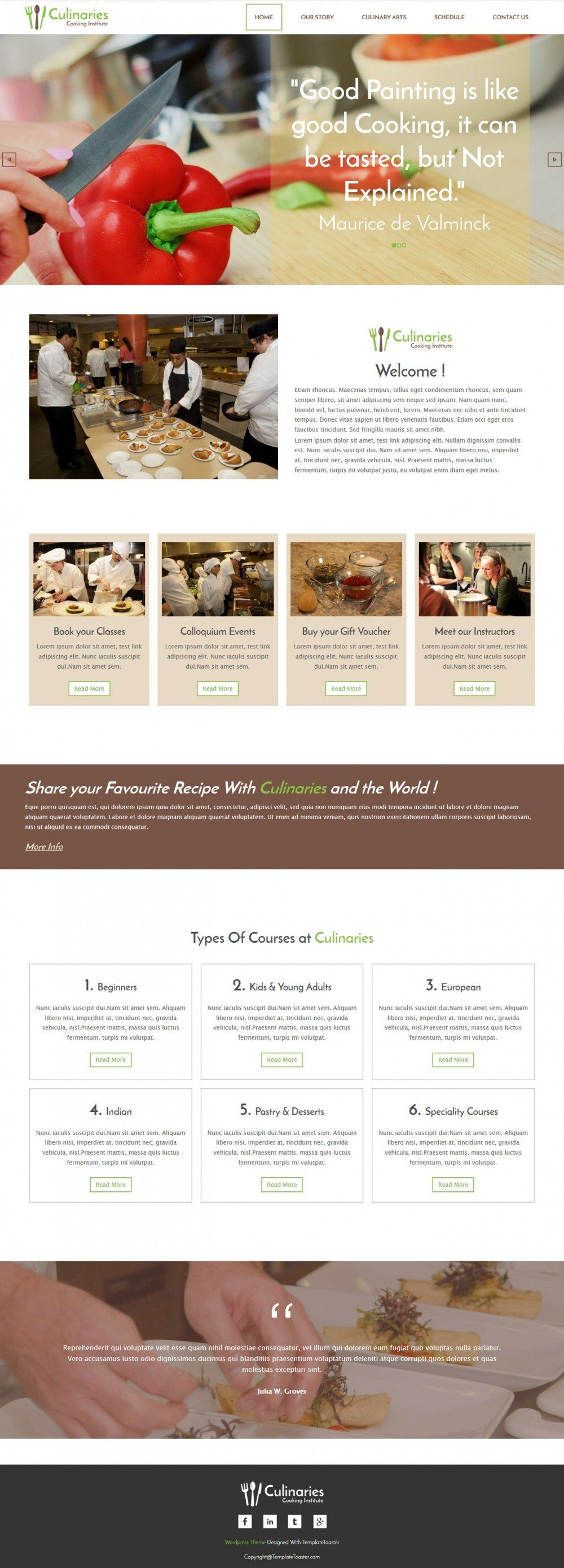 culinaries cooking institute responsive joomla template