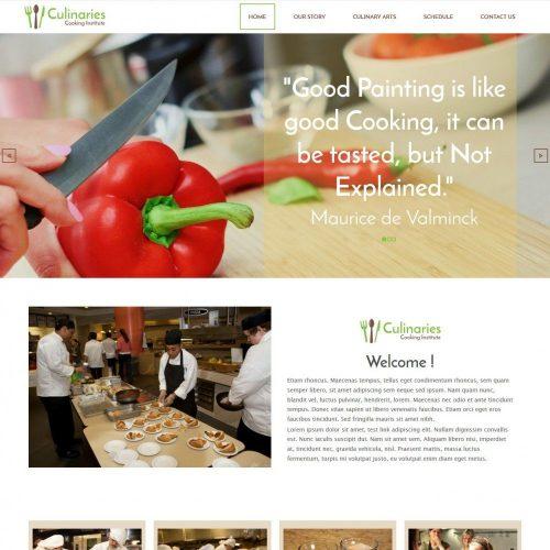 culinaries cooking institute responsive joomla template