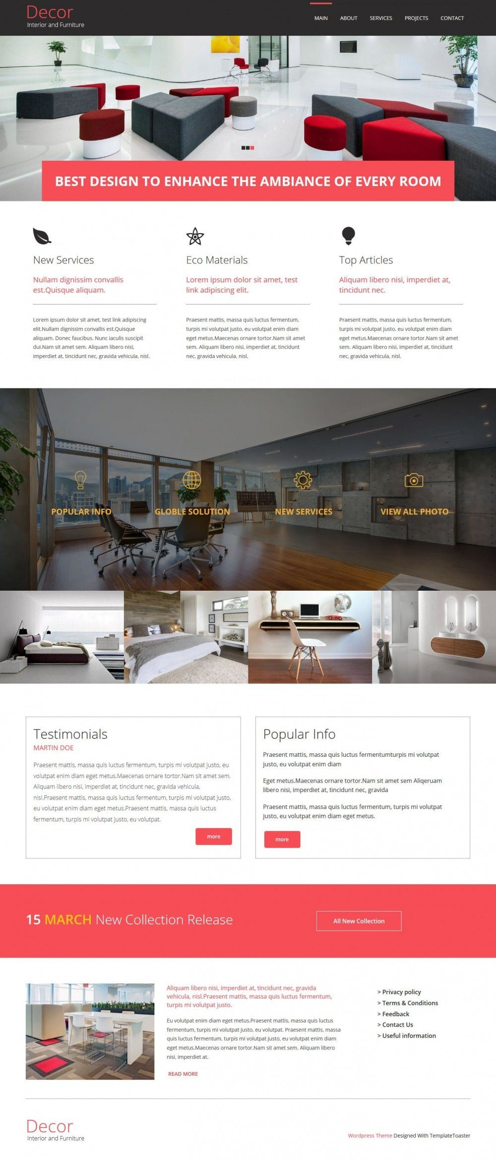 Decore - Interior and Furniture Joomla Template