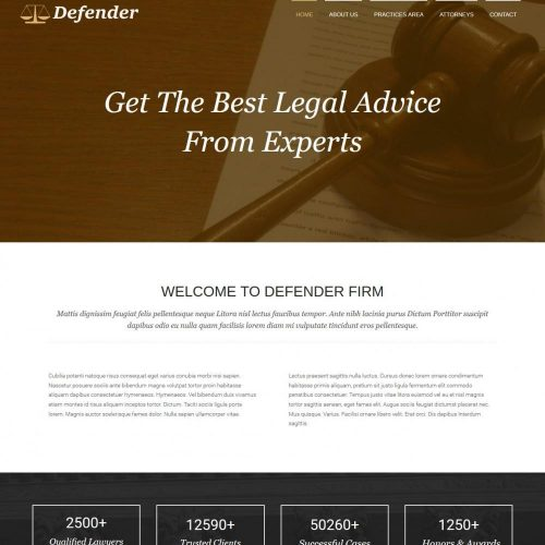 Defender - Responsive Joomla Template for Laywers