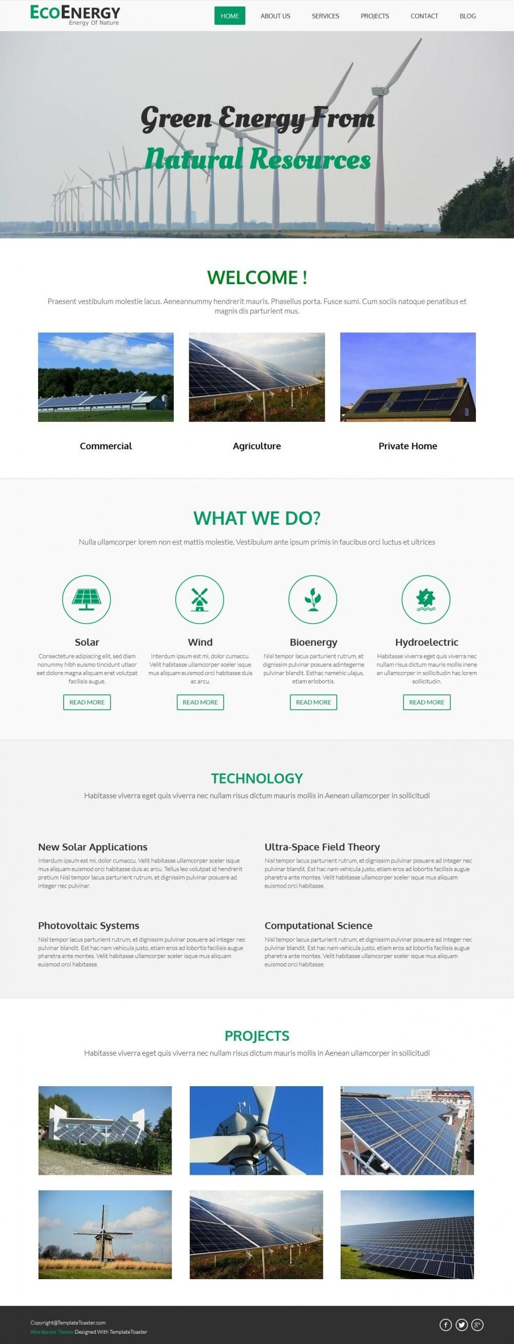 Eco Energy Natural Resources Business Joomla Template