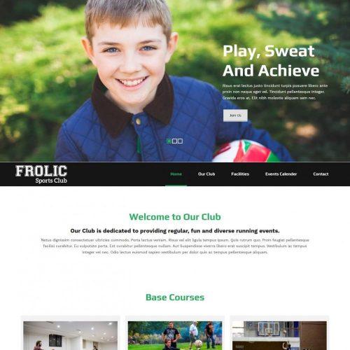 frolic sports club multipurpose joomla sports club template