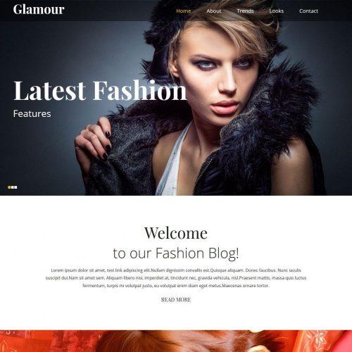 glamour elegent joomla glamour template