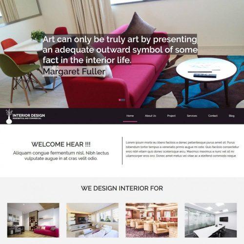 Interior Designing Joomla Template