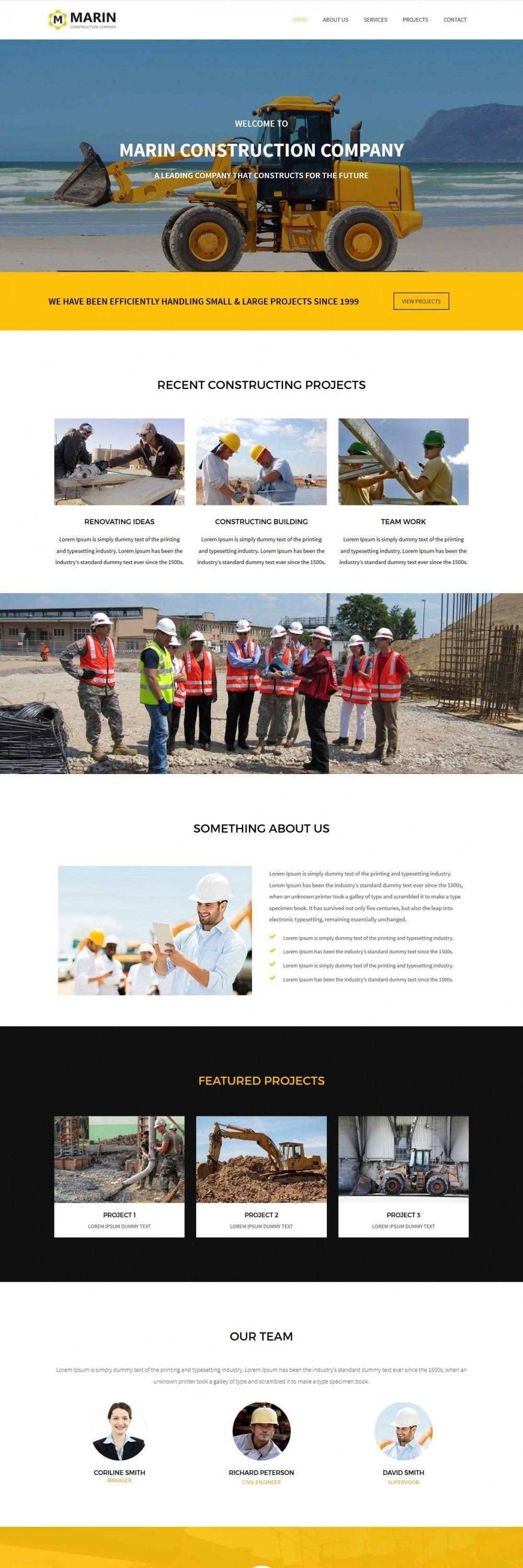 marin construction company joomla template