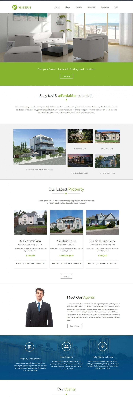 Modern - Beautiful Joomla Template for Real Estate Business