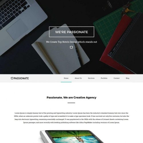 Passionate - Creative Joomla Template for Web Design Agency