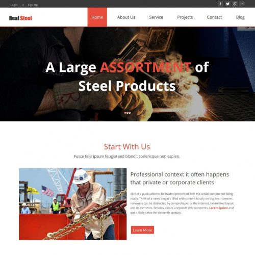 Real Steel - Business Joomla Template for Steel Factories