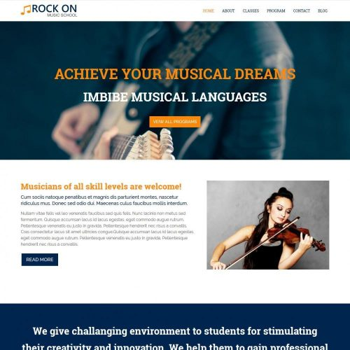 Rock On - Joomla Template For Music Academies And Schools