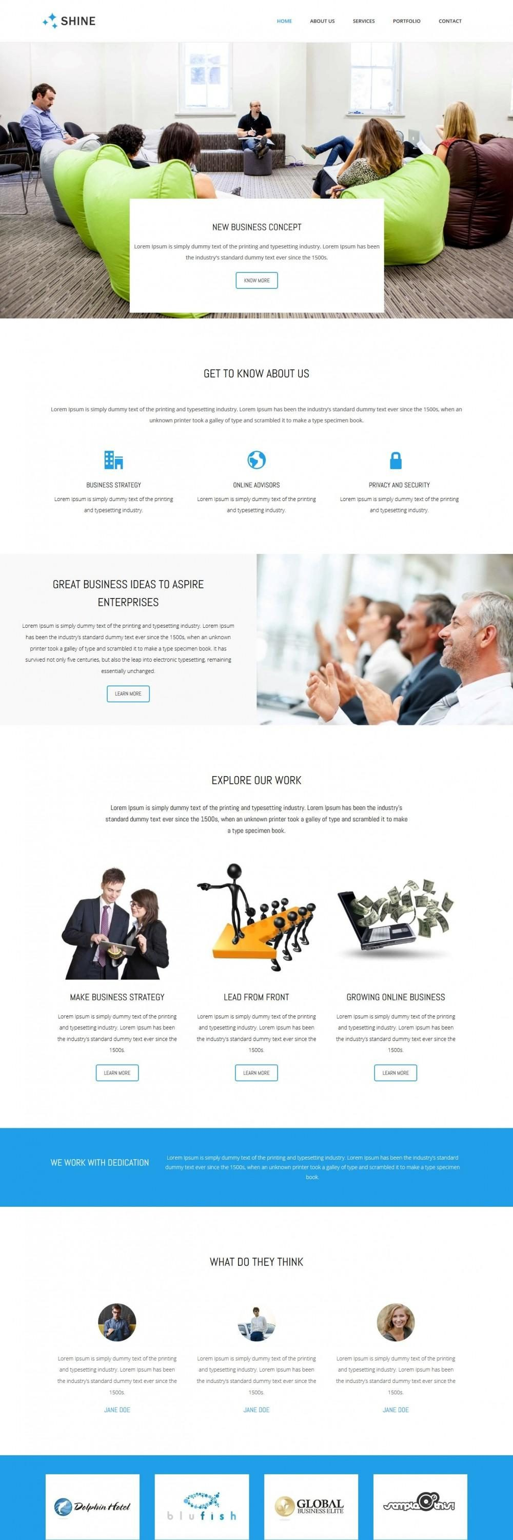 Shine - Business Advisor Joomla Template