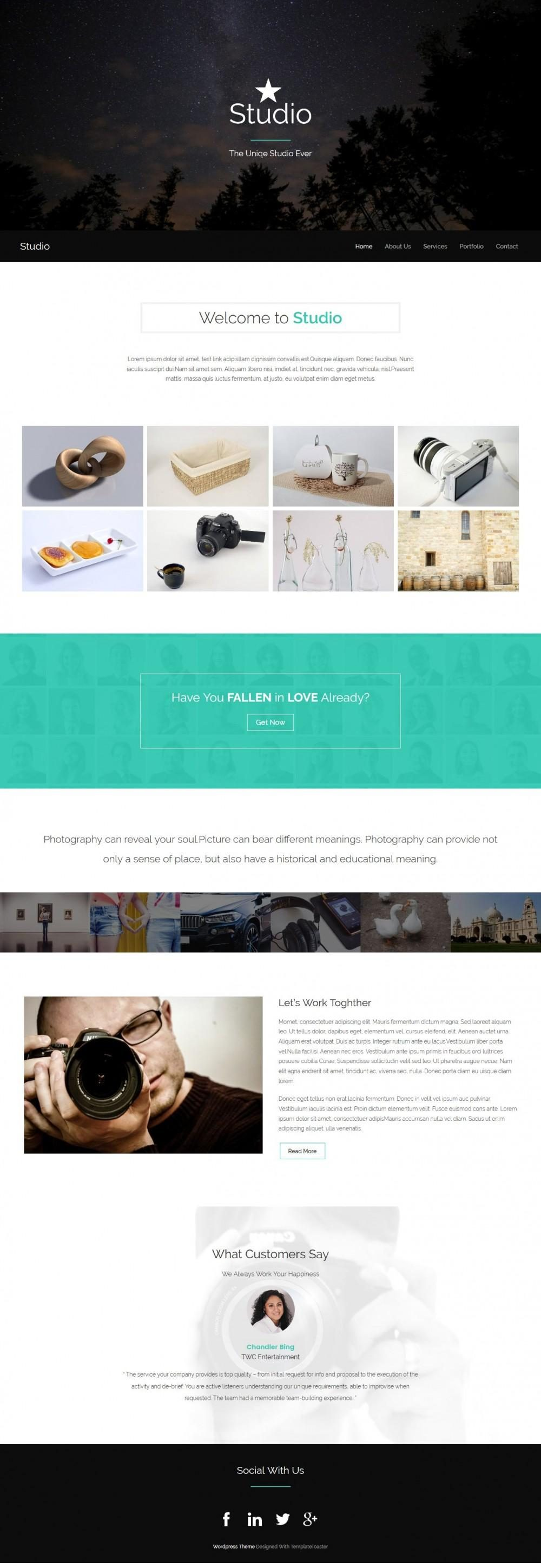 Studio - Creative Joomla Template of Photography Studio